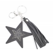 "Keychain ""Star & Tassel"" black"