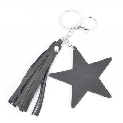 """Schlüsselanhänger """"Star & Quaste"""" schwarz"""
