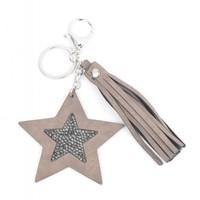 """Keychain """"Star & Tassel"""" brown"""