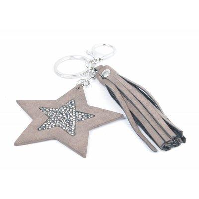 """Schlüsselanhänger """"Star & Quaste"""" braun"""