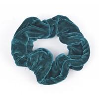 """Haar-Gummibänder """"Scrunchie"""" grün"""