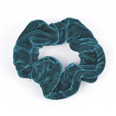 """Haarelastiek """"Scrunchie"""" groen, per 3st."""