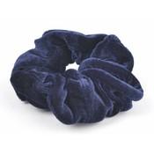 """Haarelastiek """"Scrunchie"""" blauw, per 3st."""
