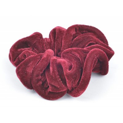 "Hair elastics ""Scrunchie"" red, per 3pcs."