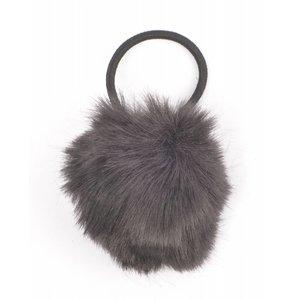"""Hair elastics """"Rabbits tail"""" black"""