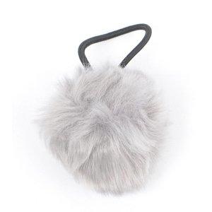 """Haar-Gummibänder """"Kaninchenschwanz"""" grau"""