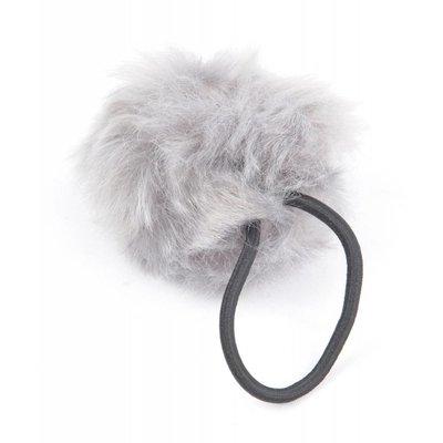 """Haar-Gummibänder """"Kaninchenschwanz"""" grau, doppelpack"""