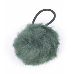 """Haar-Gummibänder """"Kaninchenschwanz"""" grün"""