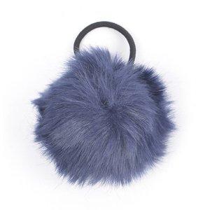 """Hair elastics """"Rabbits tail"""" blue"""