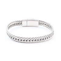 """Armband """"Ruby"""" zilver"""