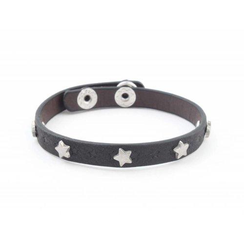 """Armband """"Kleine sterren"""" zwart"""