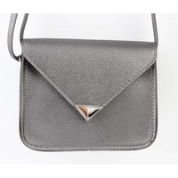 "Crossbody tas ""Driehoek"" antraciet metallic"