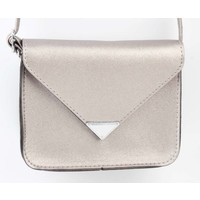 "Crossbody bag ""Triangle"" champagne metallic"