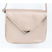 "Crossbody tas ""Driehoek"" rosé metallic"