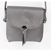 "Crossbody bag ""Metal eye"" gray metallic"