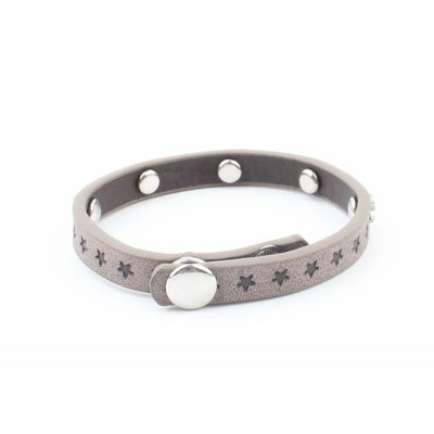 """Armband """"Kleine sterren"""" grijs"""