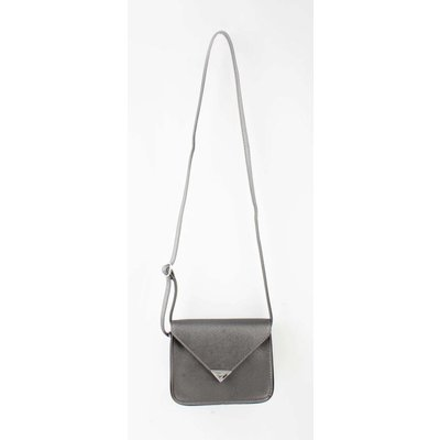 "Cross Body Tasche ""Dreieck"" anthrazit metallic"