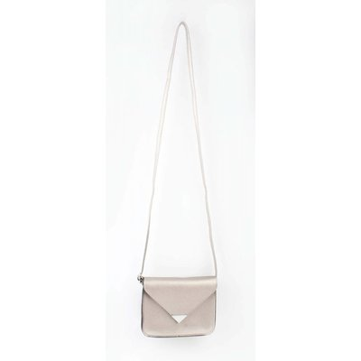 "Crossbody tas ""Driehoek"" champagne metallic"
