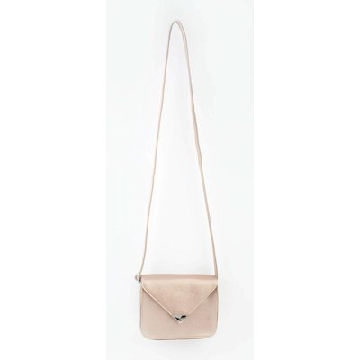 "Crossbody bag ""Triangle"" pink metallic"