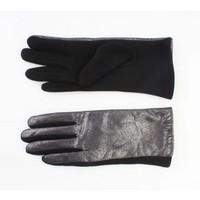 """Handschuhe """"Metallic"""" schwarz"""