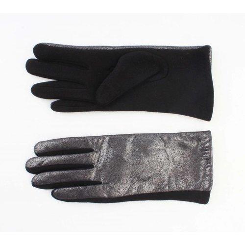 """Handschoenen """"Metallic"""" zwart"""