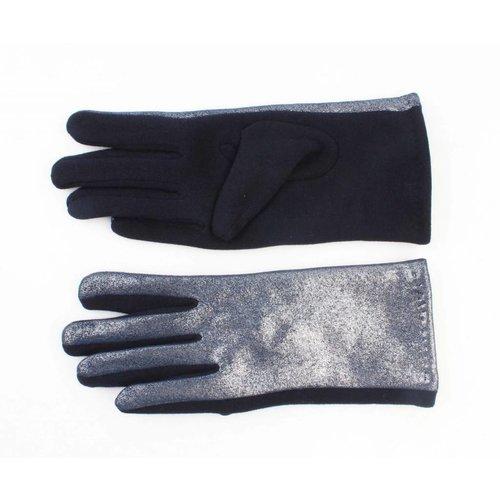 """Handschoenen """"Metallic"""" blauw"""