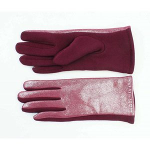 "Gloves ""Metallic"" red"