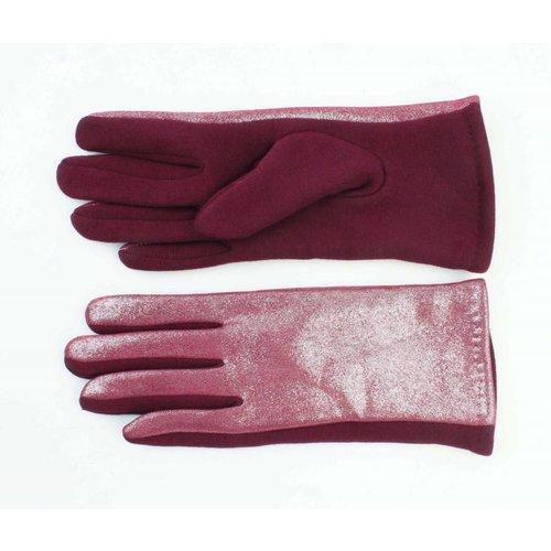 """Gloves """"Metallic"""" red"""