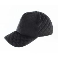 """Cap """"Quilted"""" black"""