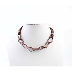 "Necklace ""Twisted chains"" brown"