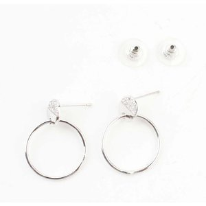 "Earring ""Ring & Strass"" silver"