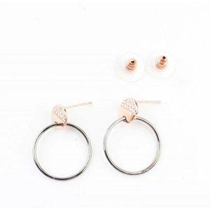"Ohrring ""Ring & Strass"" rosé"