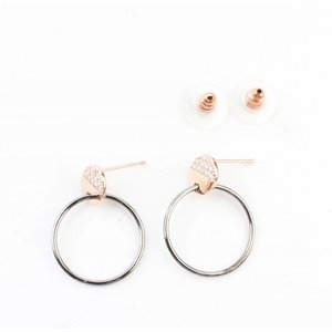 """Oorbel """"Ring & Strass"""" rosé"""