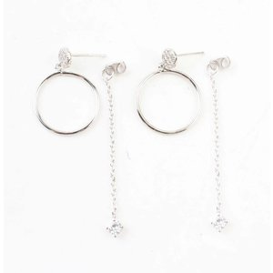 "Earring ""Ring & necklace"" silver"