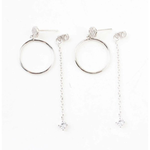"""Earring """"Ring & necklace"""" silver"""