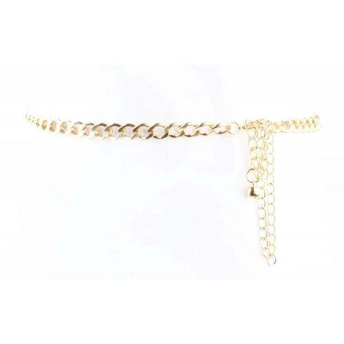 """Gürtel """"Grobe Links"""" gold"""