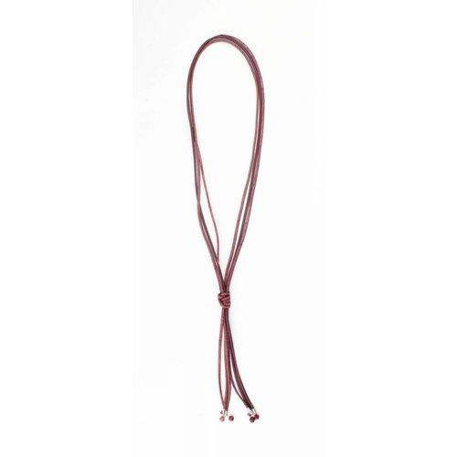 "Halskette Multi Zeilen ""Knoten"" rot"