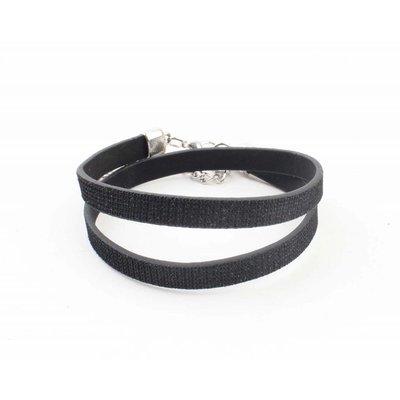 """Armband """"Strass"""" schwarze wickeln"""