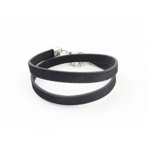"""Wickeln Armband """"Strass"""" schwarze"""
