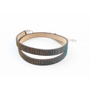"Wrap bracelet ""Rhinestone"" brown"