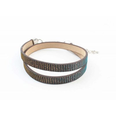 "Armband ""Strass"" Brown wickeln"