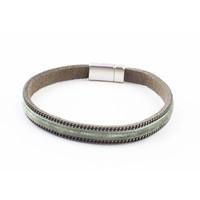 "Armband ""Samt"" Kakhi grün"