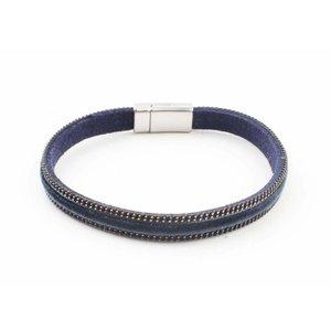 "Armband ""Samt"" Kakhi blau"