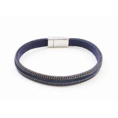 """Armband """"Velvet"""" Kakhi blau"""