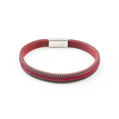 "Wristband ""Velvet"" kakhi Red"