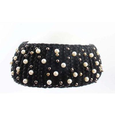 "Headband ""Pearl"" black"