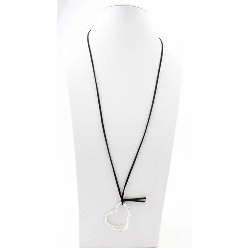 """Halskette """"Herz"""" schwarz"""