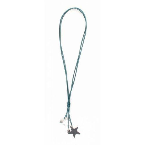 "Necklace ""Star & Coins"" petrol metallic"