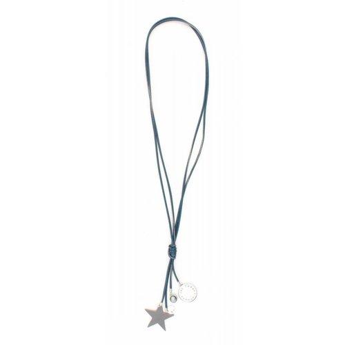 """Halskette """"Stern & Münzen"""" blau metallic"""
