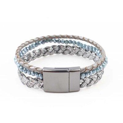 "Armband ""Braid"" blauw"